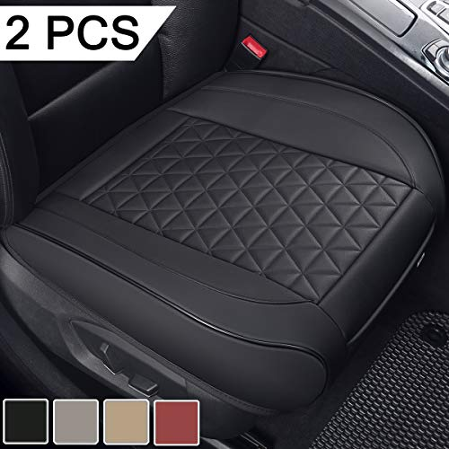 Black Panther 2 PCS Luxury PU Leather Car Seat Covers