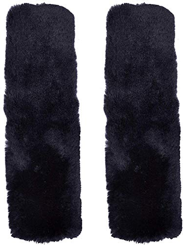 Comfortable Universal Fitting Genuine Merino Sheepskin Seat Belt Shoulder Cover Pads for Adults Youth Multiple Colors Available Black Children Soft Engel Worldwide Twin Pack